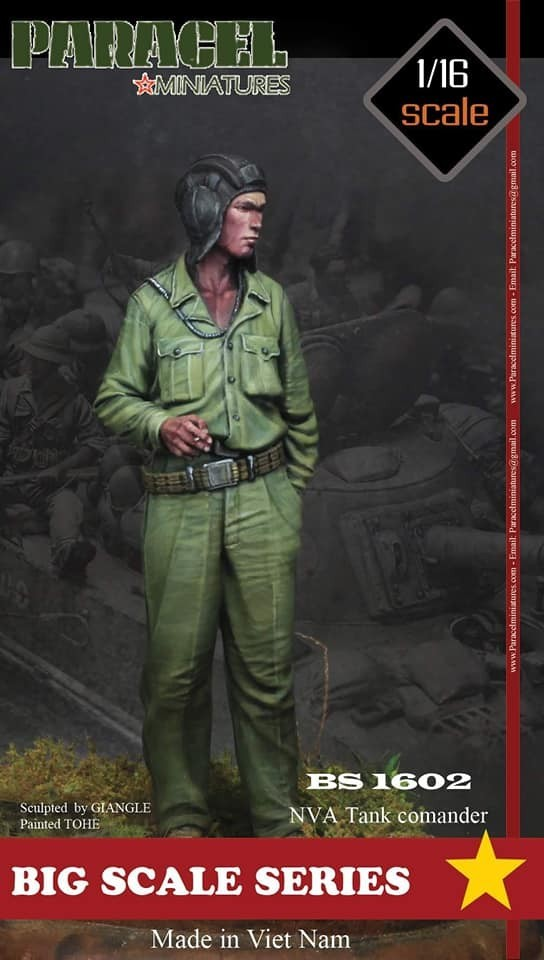BS 1602 NVA Tank Commander, 1/16 scale 3D printed figure