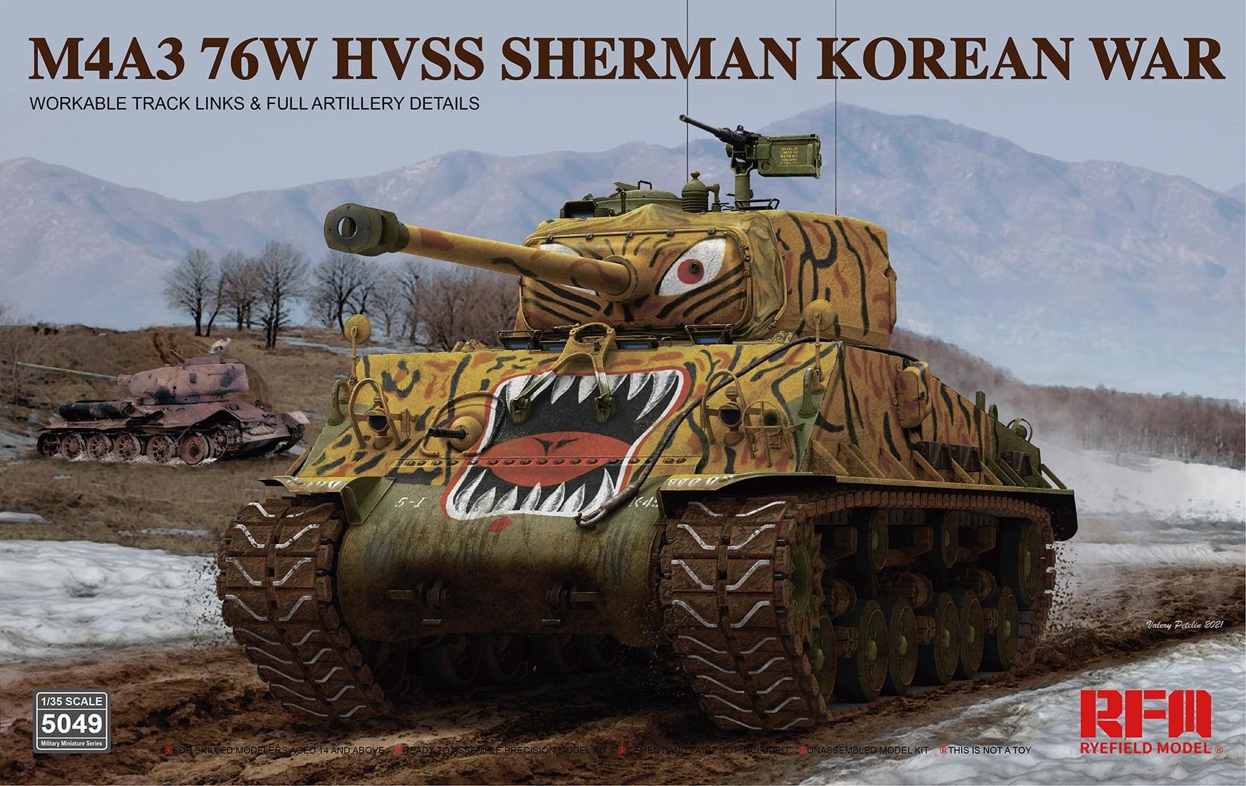 RM-5049. M4A3 76w HVSS Sherman Korean war